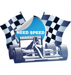 motor-sports vector image