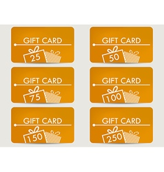 Gift card with a gift box vector
