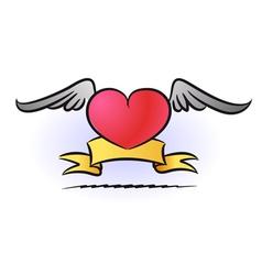 Heart tattoo vector image