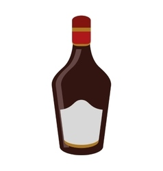Bottle cream whiskey liqueur icon vector