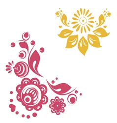 Russian floral designs vector