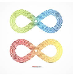 Abstract Colorful infinity symbols vector image