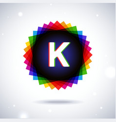 Spectrum logo icon letter k vector