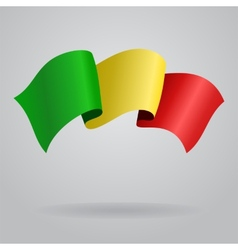 Malian waving flag vector