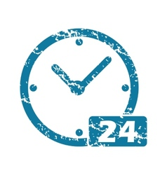 Grunge 24 workhours icon vector