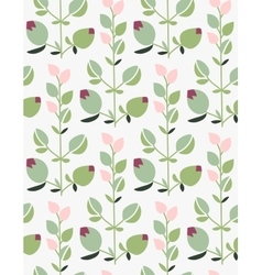 Seamless hand-drawn doodle floral pattern vector