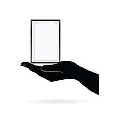 Photo frame in black hand vector