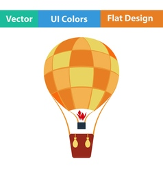 Flat design icon of hot air balloon vector