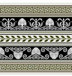 Antique borders vector
