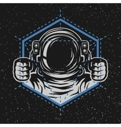 Astronaut with a geometric element vector