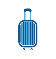 baggage luggage suitcase travel bag vacation vector image