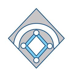 Baseball field isolated vector