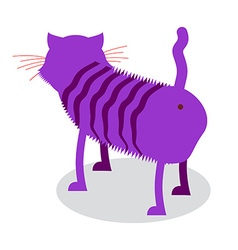Cheshire cat fantastic pet is backwards magic vector