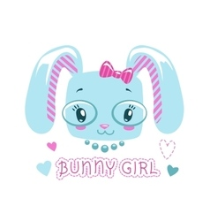 Cute girlish for baby girl vector