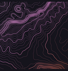 Dark colorful topographic map background vector