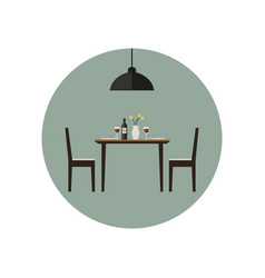 dining room icon vector image vector image