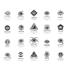 Eye logos set vector