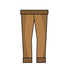 Fashion man pants cloth style vector