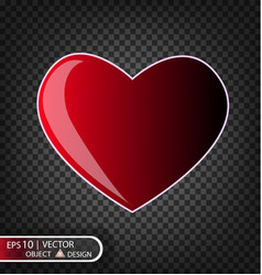 Festive of falling red heart vector