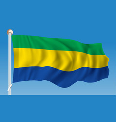 Flag of gabon vector