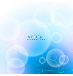 moclecules and particles medical background vector image