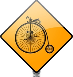 Penny farthing bicycle sign vector