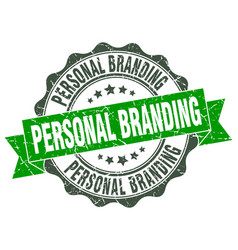 Personal branding stamp sign seal vector