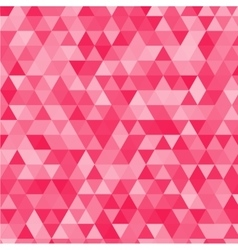 Pink triangles background vector image vector image