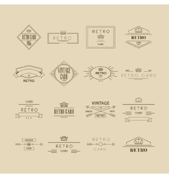 Retro Labels Set vector image