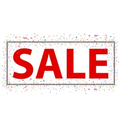 Sale sign with confetti vector