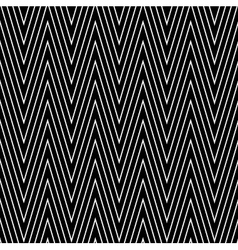 seamless black-and-white geometric vector image vector image
