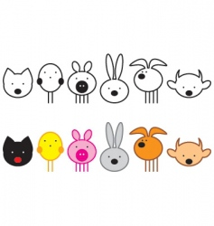 set of pets vector image