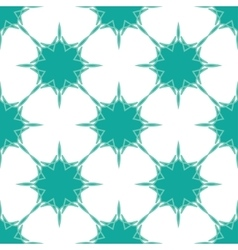 Snowflakes background in blue-green colors vector image
