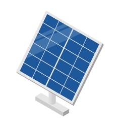Solar panel isometric 3d icon vector image