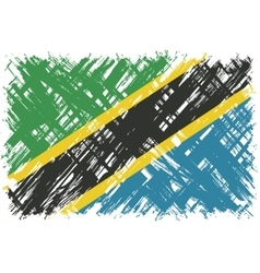 Tanzanian grunge flag vector