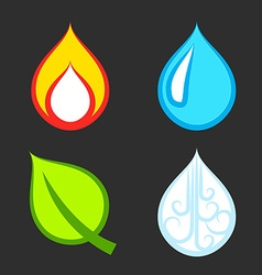 The Four Elements Set vector image vector image