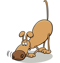 Tracking dog cartoon vector