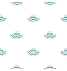 Women beach hat pattern flat vector