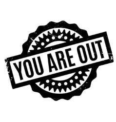 You are out rubber stamp vector