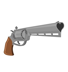 Love gun weapons for shooting kisses magnum heart vector