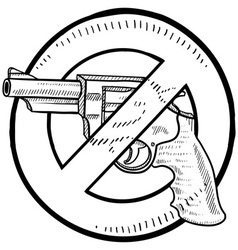 doodle guns no vector image
