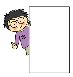 Child with a frame vector image