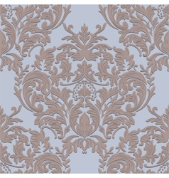 Vintage damask baroque ornament floral pattern vector