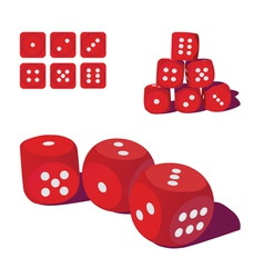 Playing dice vector
