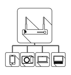 Video beam server icon stock vector