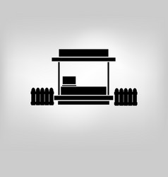 icon store kiosk vector image