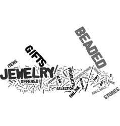 Beaded jewelry text background word cloud concept vector