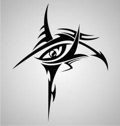 Eyes tribal tattoo design vector