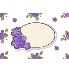Retro frame with abstract roses vector image