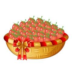 A basket of berries vector image